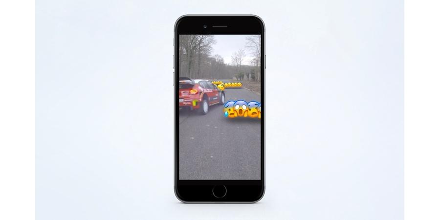 Citroen C3 WRC'nin ilk interaktif test sürüşü Snapchat'ten yapıldı