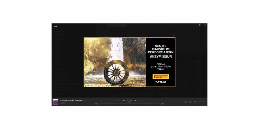 Pirelli Yol Şarkıları Spotify'da