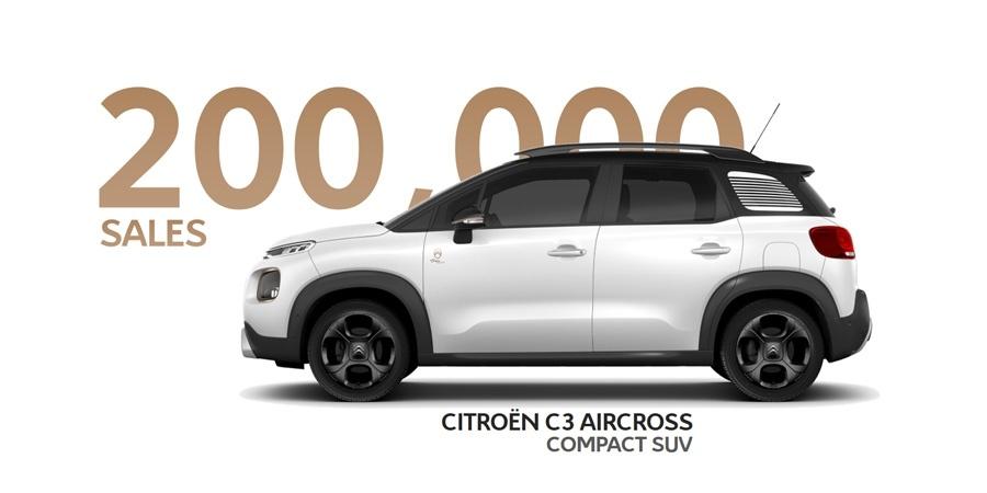 Citroën C3 Aircross SUV, 200.000 satış adedine ulaştı