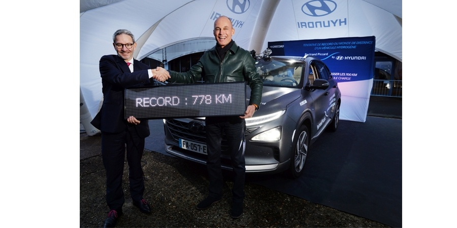 Hidrojenle çalışan Hyundai NEXO dünya rekoru kırdı